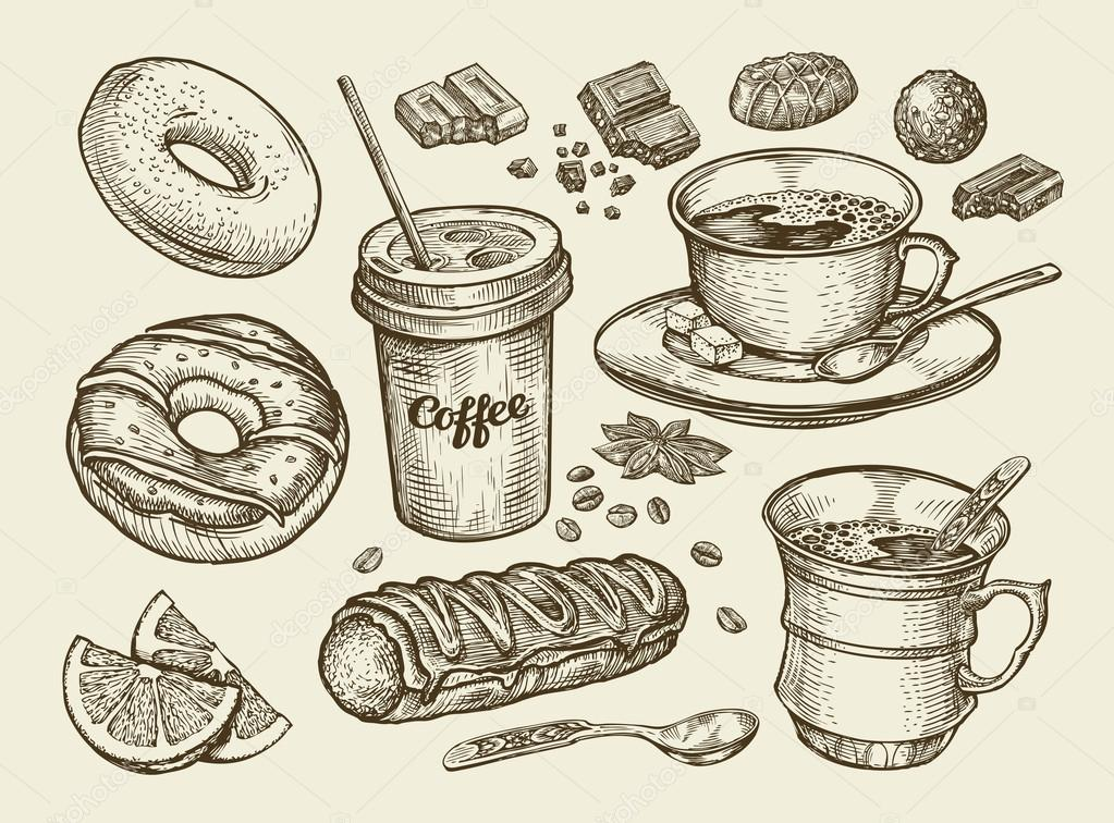 Ice Cream And Cake How To Draw