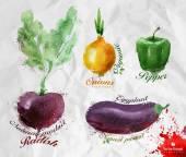 Vegetables. Vector format — Vector de stock