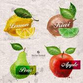 Fruits. Vector format — Stockvector