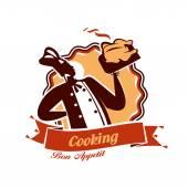 Cook. Vector format — Stock Vector
