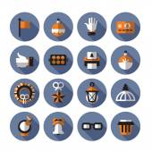 Icons. Vector format — Stock Vector
