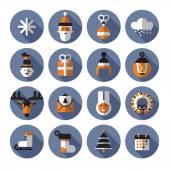 Xmas icons. Vector format — Stock Vector