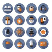 Christmas icons. Vector format — Stock Vector