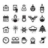 Christmas icons. Vector format — 图库矢量图片