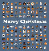 Merry Christmas icons. Vector format — Stock Vector