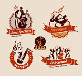 Jazz. Vector format — Stockvektor