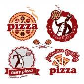Pizzeria. Vector format — Stock Vector