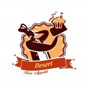 Dessert. Vector format — Stock Vector