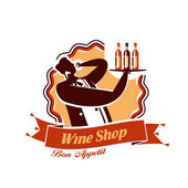 Wine Shop. Vector format — Stock Vector
