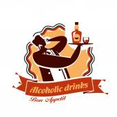 Alcohol. Vector format — Stock Vector