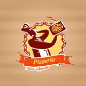 Pizza Delivery. Vector format — Stock Vector