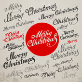 Merry Christmas Vector Calligraphic Lettering — Stock Vector