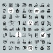 Cleaning Tools icons. vector black cleaning icons set — Stock Vector #58890831