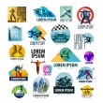 Sport vector logo design template. spotrsmen or health icon. — Stock Vector #64009893