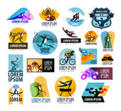 Fitness vector logo design template. sport or athlete icon. — Stock Vector