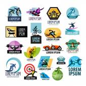 Sport vector logo design template. fitness or athlete icon. — Stock Vector
