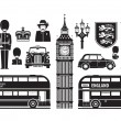 England, London, UK set of icons — Stock Vector #64052471