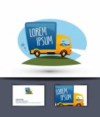 Delivery vector logo design template. truck or business icon. — Stockvektor