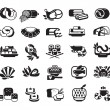 Food. Meat, seafood, baked goods. Set of icons — Vector de stock  #64067185