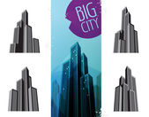 City Icons — Stock Vector