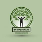 Nature vector logo design template. ecology or bio icon. — Stock Vector