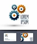 Business vector logo design template. Gear or work icon. — Stock Vector