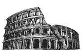 Colosseum vector logo design template. Italy or Rome icon. — Stock Vector