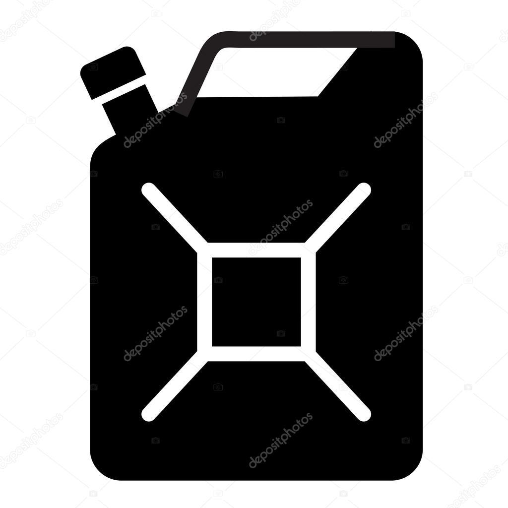 benzinvektorlogodesignvorlage kanister benzin oder 214l