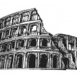 Italy. Colosseum on a white background. sketch — Stock Photo #66046321