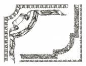 Retro frame on a white background. sketch — Stock Photo