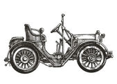 Old car on a white background. sketch — Stock Photo
