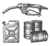 Bensin vektor logotyp formgivningsmall. petroleum eller råolja ikonen. — Stockvektor