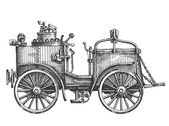 Vintage car vector logo design template. vehicle or motorcar icon. — Stock Vector