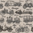 Постер, плакат: Vintage retro cars Background banner poster
