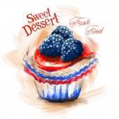 Dessert logo design template — Stockvector