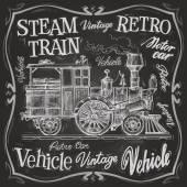 Buhar tren logo tasarım şablonu — Stok Vektör