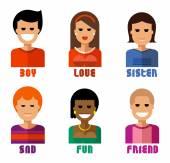 People vector logo design template. account, user or society icon. — Stock Vector