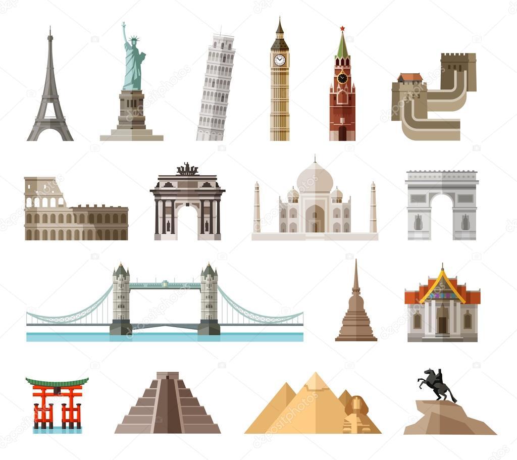 Countries of the world vector logo design template for Landmark design