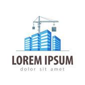 City, town vector logo design template. construction, building or house icon — Stock Vector