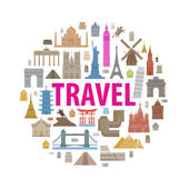 Vacation, travel icons set — Stock Vector