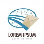 Modelo de design de logotipo de vetor entrega expressa. ícone de correio ou e-mail — Vetor de Stock
