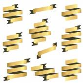 Collection gold banners — Stock Vector