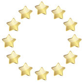 Golden stars in a circle — Stock Vector