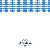 Ripped paper Oktoberfest background with text O'zapft is — Stock Vector