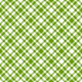 Checkered tablecloths pattern green - endless — Stock Vector