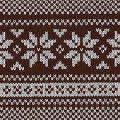 Kerstmis achtergrond - Noors breien patronen — Stockvector
