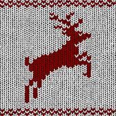 Christmas background - Norwegian knitting patterns — Vector de stock