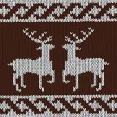 Christmas background - Norwegian knitting patterns — Stock Vector