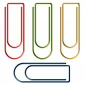 Collection of colorful paper clips — Stock Vector