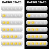 Rating Stars - 0 to 5 — Stock Vector